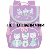 Рюкзак школьный ортопедический Grizzly Cats 8 л RAm-084-1/2