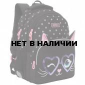 Рюкзак школьный Grizzly Котик с ушками 13,5 л RG-160-2/4