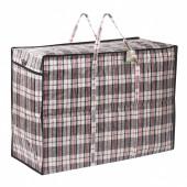 Клетчатая сумка-баул Любаша 105 л 604703