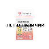 Карабин Higashi Round snap, р. 00, цвет SS, до 10 кг 10 шт