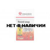 Карабин Higashi Round snap, р. 0, цвет SS, до 18 кг 10 шт