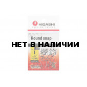 Карабин Higashi Round snap, р. 1, цвет SS, до 28 кг 10 шт