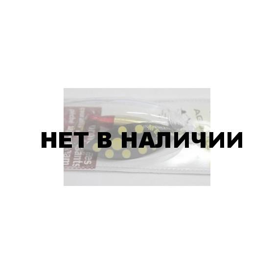Блесна вращ. MEPPS Aglia Longue Heavy NR PTS JAUNE блистер №3 (24г) LHE4JA31