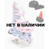 Роликовые коньки JOEREX RO0306 набор (синий/розовый)