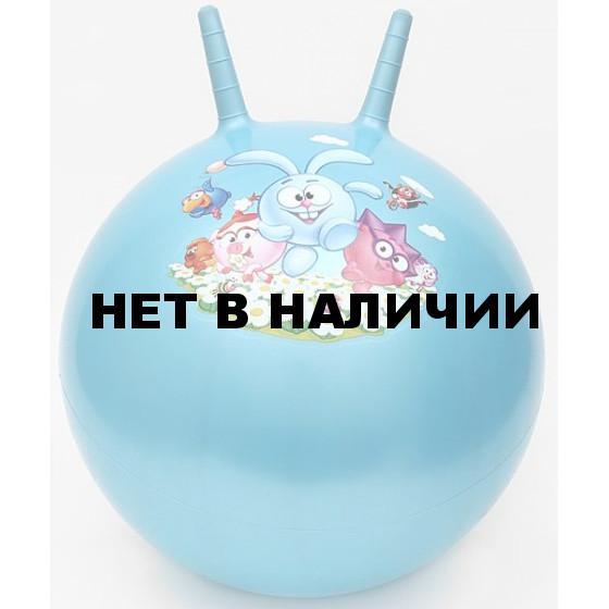 Мяч для фитнеса с рожками Смешарики SMFI 112 КРОШ диаметр 55 см (в комплекте с насосом)