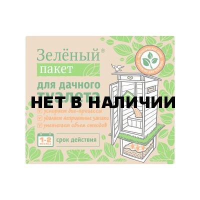 Сухая смесь Зеленый пакет для дачного туалета 30гр, арт. 112