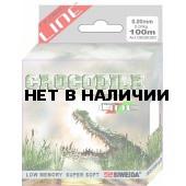 Леска SWD Crocodile 100м 0,5 (19,80кг) ваккум/уп прозрачная