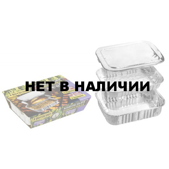 Коптильня одноразовая BOYSCOUT 20х15см, 3 шт (в компл. ольховая щепа, соль, перец) 61277