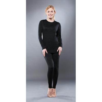Комплект женского термобелья Guahoo: рубашка + лосины (351-S/BK / 351-P/BK)