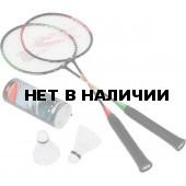 Ракетка для бадминтона Joerex JBD6003 (сталь) 2 ракетки и 3 волана в чехле