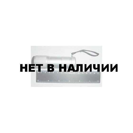 Фонарь 9 LED металл