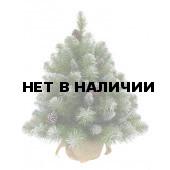 Елка Триумф Императрица с шишками в мешочке заснеженная 73701 (60 см)