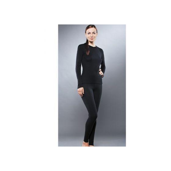 Комплект термобелья для девочек Guahoo: рубашка + лосины (651S-BK / 651P-BK)
