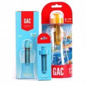 Бутылка c фильтром с картриджем GAC для очистки воды (0,5 л) + запасной катридж