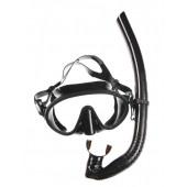 Набор маска,трубка WAVE MS-1328S66 силикон,черный