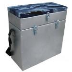 Ящик для зимней рыбалки оцинкованный двухсекционный Тонар Helios 28л.