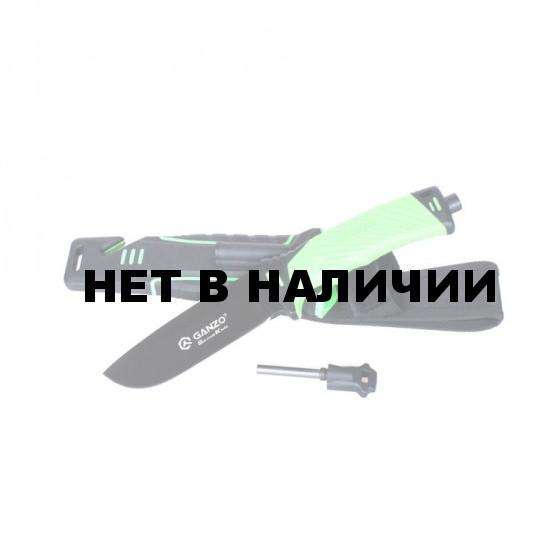 Нож для выживания Ganzo G8012-LG (нож, огниво, стеклобой, точилка, стропорез)