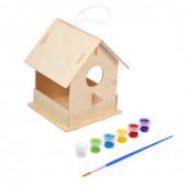 Кормушка для птиц сборная с красками и кисточкой Blumen Haus 65708