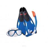 Набор маска,трубка WAVE MSF-1396S25BF71 силикон (р.40-41)