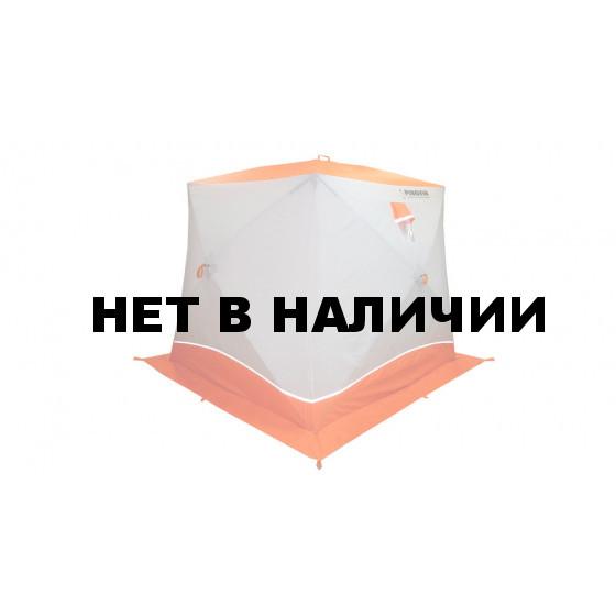 Зимняя палатка куб Пингвин Призма Brand New двухслойная (белый/оранжевый)