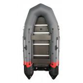 Надувная лодка Лидер Тайга Nova-340 Киль (темно-серая/черная/красная)