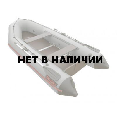 Надувная лодка Лидер Тайга-340 Киль (под мотор 15 л.с., серая)