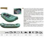 Надувная лодка Лидер Компакт-275 (зеленая)