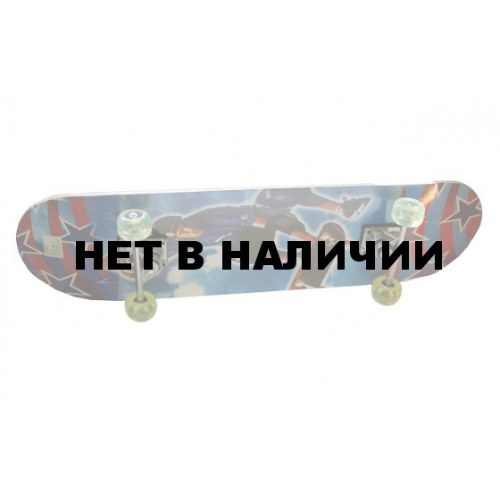 Скейтборд 78 х 20 см. Диаметр колеса 4,5 см. Поверхность деки покрыта гриптейпом 13203