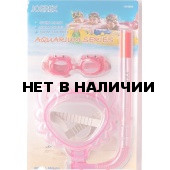 Набор детский в дизайне краба Joerex SSM1807(маска + трубка+очки)