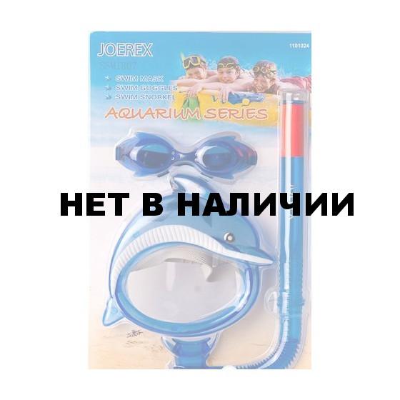 Набор детский в дизайне дельфина Joerex SSM1807(маска + трубка+очки)