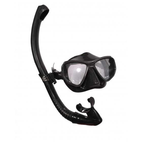 Набор маска,трубка WAVE MS-1383S60 силикон,черный