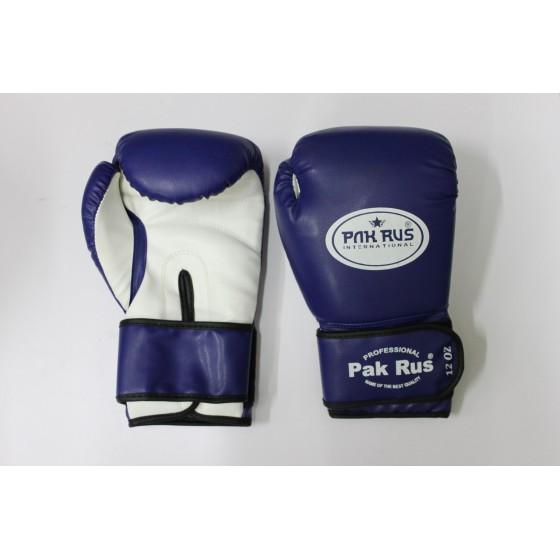 Перчатки боксерские Pak Rus, искусственная кожа, 12 OZ, синие, PR-128881