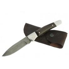 Нож Ворсма складной Снайпер, дамасская сталь, дерево-венге (кузница Семина)