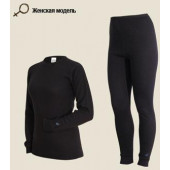 Комплект женского термобелья Laplandic: рубашка + лосины (A51-S-BK / A51-P-BK)
