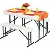 Набор: стол складной и 2 складные скамьи В113