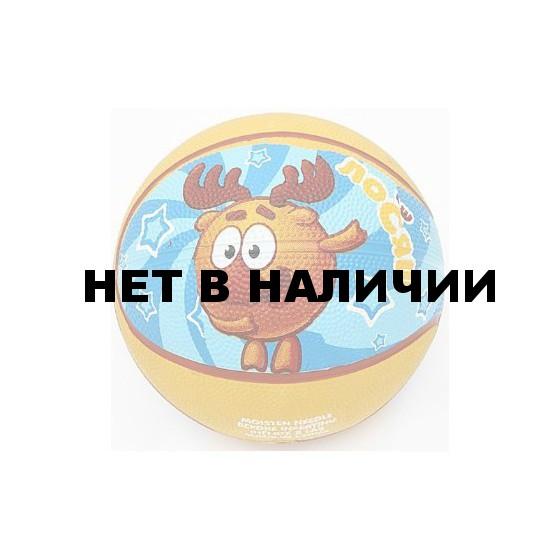 Мяч баскетбольный Смешарики №1 SMBA 101 ЛОСЯШ