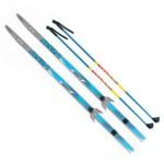 Лыжный комплект VISU (лыжи, палки, креплен. 75мм) 190 см step