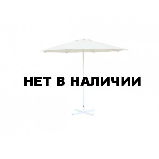 Зонт уличный Митек D3 м круглый без волана, стальной, с подставкой