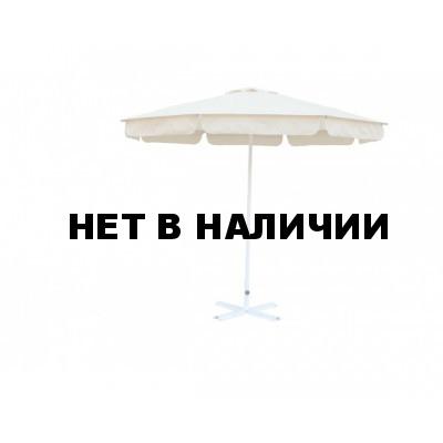 Зонт уличный Митек D2,5 м круглый с воланом, алюминий, с подставкой