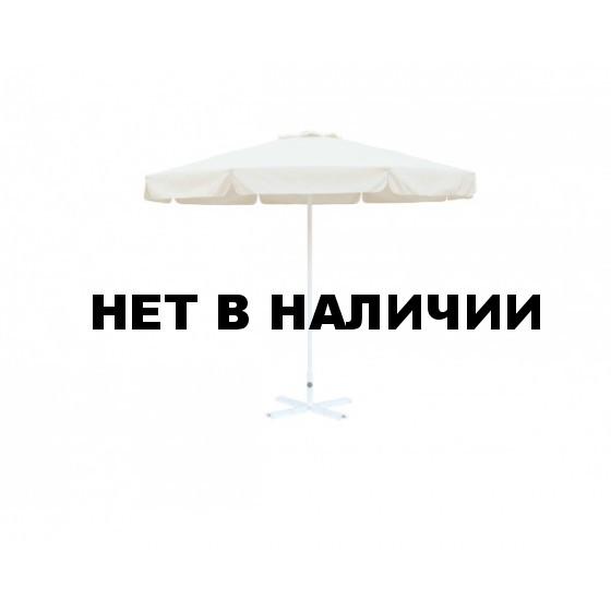 Зонт уличный Митек D2,5 м круглый с воланом, стальной с подставкой