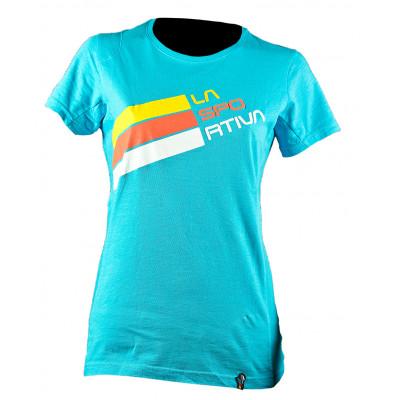 Stripe Logo T-Shirt W Malibu Blue
