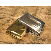 Теплосберегающее экстренное покрывало AceCamp Emergency Gold&Silver 3806