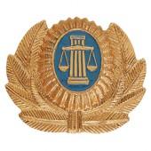 Кокарда Служба судебных приставов на фуражку металл