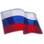 Термонаклейка -1548.1 Развевающийся флаг России вышивка