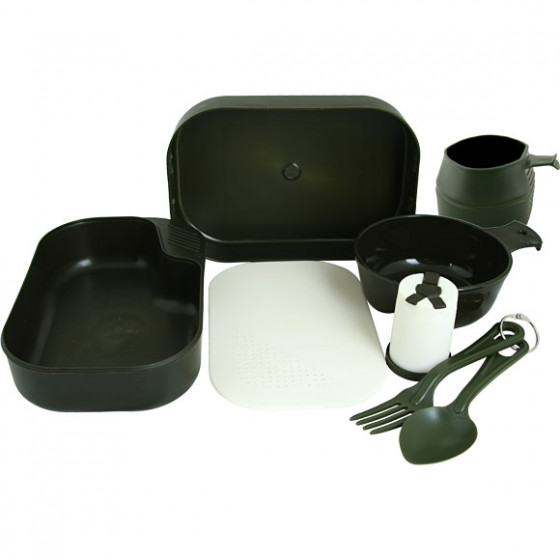 Набор посуды оливковый пластик Соло Track