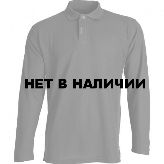 Рубашка Поло с длинным рукавом черная