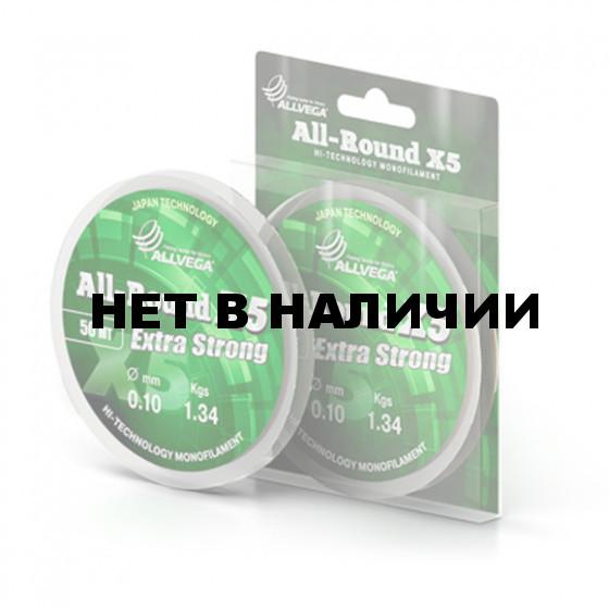 Леска монофильная ALLVEGA ALL-ROUND X5 0,09mm (50м) прозрачная