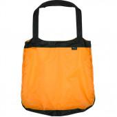 Сумка-авоська черно-оранжевая
