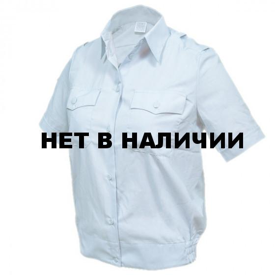 Рубашка форменная женская, короткий рукав, светло-голубая