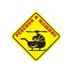 Наклейка Ребёнок в машине ВЕРТОЛЕТ сувенирная